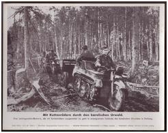 Dt- Reich (007906) Propagandasammelbild, Bilderdienst Weber Leipzig, Mit Kettenrädern Durch Den Karelischen Urwald - Duitsland