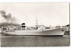66 Port Vendres Le Kairouan Au Port Bateau Paquebot CPSM PF Cachet Port Vendres 1961 - Port Vendres