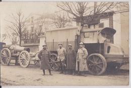 94 Saint-Maur - Carte-photo Grande Guerre Matériel Militaire Poilu Canon Camion Plaque 106 612 Military Truck WW1 - Saint Maur Des Fosses