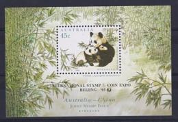 Australia: 1995   Australia-China Joint Issue - Endangered Species  M/S (x2) OVERPRINTED MNH - 1990-99 Elizabeth II