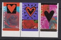 Australia: 1995   St Valentine's Day  MNH Strip Of 3 - Neufs
