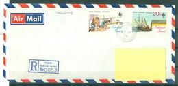 FALKLAND - LETTRE RECOMMANDEE N° 0053 DE STANLEY DU 27AP 78. - Falkland