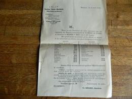 MALONNE LEZ NAMUR:HORAIRE DES TRAINS DE DEPART ET DE RENTREE  VACANCES DE PAQUES DE 1946 POUR L'INSTITUT SAINT-BERTHUIN - Europa