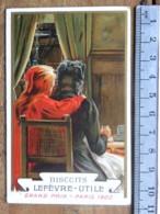 Calendrier 1902 - Publicité Biscuits Lefèvre Utile -  Grand Prix Paris 1900 - Quelle Chance Grand'Mère ... LU - Calendriers