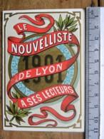 Calendrier 1901 - Le Nouvelliste De Lyon à Ses Lecteurs - Le Colonel De Villebois-Mareuil - Petit Format : 1901-20