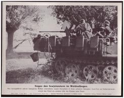 Dt- Reich (007927) Propagandasammelbild, Bilderdienst Weber Leipzig, Gegen Den Sowjetansturm Im Weichselbogen - Covers & Documents