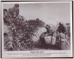 Dt- Reich (007929) Propagandasammelbild, Bilderdienst Weber Leipzig, Panzer Nach Vorn - Covers & Documents