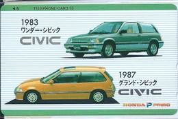 JAPAN TELEPHONE CARD 50 - HONDA 1983 1987 CIVIC  UNUSED XFINE - Japan