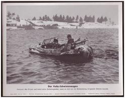 Dt- Reich (007943) Propagandasammelbild, Bilderdienst Weber Leipzig, Der Volks- Schwimmwagen - Duitsland