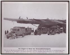 Dt- Reich (007950) Propagandasammelbild, Bilderdienst Weber Leipzig, Der Gigant Im Dienst Des Verwundetentransports - Covers & Documents