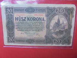 HONGRIE 20 KORONA 1920 CIRCULER (B.11) - Hongrie