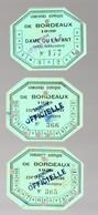 Bordeaux (33 Gironde) Lot De 3 Tickets D'entrée Octogonaux CONCOURS HIPPIQUE 1939 (PPP21835) - Tickets - Vouchers