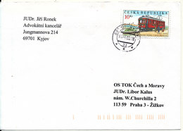 Czech Republic Cover 17-6-2003 Locomotive On Stamp - Tchéquie