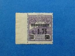 1927 SAN MARINO FRANCOBOLLO NUOVO STAMP NEW MNH** ESPRESSO SOPRASTAMPATO 1,75 SU 50 - Express Letter Stamps