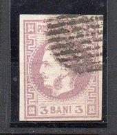 1868 Romania Principe Carlo I N. 18 Unificato 3 Bai Timbrato Used - 1858-1880 Fürstentum Moldau