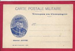 FM CARTE POSTALE DE FRANCHISE (JOFFRE) MILITAIRE VIERGE - Storia Postale