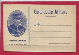 FM CARTE  LETTRE DE FRANCHISE (JOFFRE) MILITAIRE VIERGE - Storia Postale