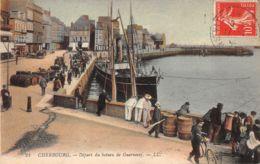 Cherbourg (50) - Départ Du Bateau De Guernesey - Cherbourg