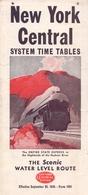 Brochure Dépliant  Toerisme Tourisme - Horaires  Timetables Trains New York Central System - 1945 - Monde