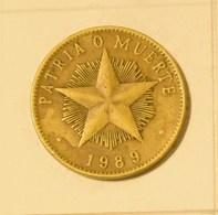 Cuba 1989 KM#105 UN PESO 1 Peso Regular VF - Cuba