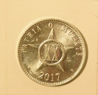 Cuba 2017 KM#35  VEINTE CENTAVOS 20 Centavos Regular AUNC - Cuba