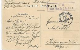 Guerre 14 18 VALENCIENNES Nord Cachets Allemands 6ème Armée 1915 Cpa Animée VALENCIENNES Le Mail ...G - 1. Weltkrieg 1914-1918