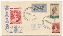 NOUVELLE ZELANDE - International Stamp Exhibition - TIMARU - 1955 - Covers & Documents