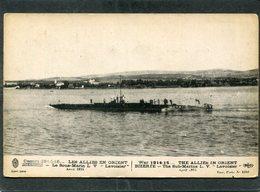 """CPA - Guerre 1914-15... LES ALLIES EN ORIENT - BIZERTE - Le Sous Marin L V """"Lavoisier"""", Avril 1915 - Sous-marins"""