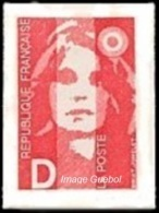 France Marianne Du Bicentenaire N° 2713 ** Ou N° 2 Autoadhésif - Briat - Lettre D = 2.50 Rouge - 1989-96 Marianne Du Bicentenaire