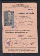 Dt. Reich Ausmusterungsschein 1944 - Documenti Storici