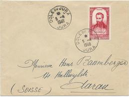 LETTRE 1948 POUR LA SUISSE AVEC TIMBRE A SURTAXE BLANQUI - Marcofilia (sobres)