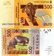 WEST AFRICAN STATES, BENIN, 500 Francs, 2019, Code B, P614, New Signature, UNC - Benin