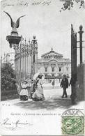 CPA  - GENEVE - L'entrée Des Bastions Et Le Théâtre - GE Genève