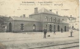 YVES-GOMEZEE : La Gare St-Lambert - TRES RARE CPA - Cachet De La Poste 1931 - Walcourt