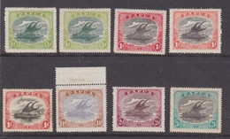 PAPUA 1916 - 1931 VALUES TO 3d SG 93, 93a, 94, 94b, 94c, 95, 96, 98c MOUNTED MINT Cat £16+ - Papua-Neuguinea