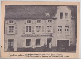 HOMBOURG-BAS (Moselle) - Café-Restaurant Froelicher - Francia