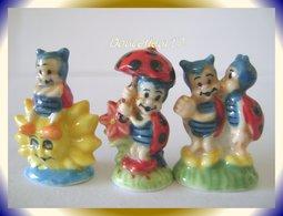Petites Coccinelles II ... Lot De 3 Fèves... Ref AFF : 126-2005 ...( Pan 005 ) - Animals