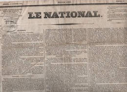 LE NATIONAL 01 01 1831 - GRONDSVELD - COLOMBIE - POLOGNE - SUISSE BERNE - LOI ELECTIONS - CONCLAVE ROME - HAM - NEY - Zeitungen