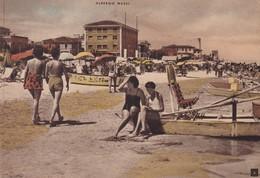 Cartolina SENIGALLIA - Spiaggia (Albergo Massi). - Senigallia