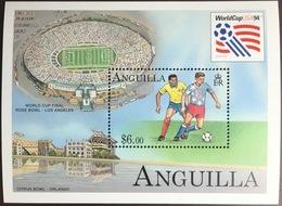Anguilla 1994 World Cup Minisheet MNH - Anguilla (1968-...)
