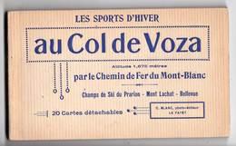 Carnet Complet Neuf Du Chemin De Fer Tramway Du Mont Blanc TMB Col De Voza (74) 20 CP Ed Blanc Le Fayet - Tramways