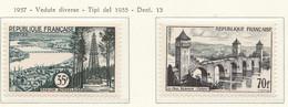 PIA - FRA - 1957 : Serie Turistica  - (Yv 1118-19) - Francia