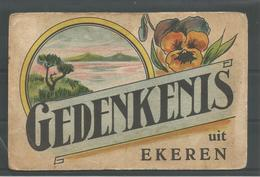 Oude Postkaart .  Gedenkenis Uit Ekeren - Antwerpen