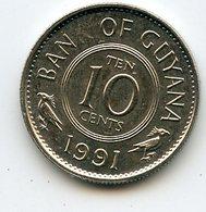 Guyana 1991 10 Cent. Fauna Birds - Guyana