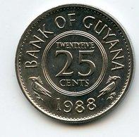 Guyana 1988 25 Cent. Fauna Birds - Guyana
