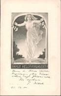 "Neujahr Prosit ""Neujahrhundert"" Jahrhundert-Grusskarte 1900 Passepartout - Anno Nuovo"