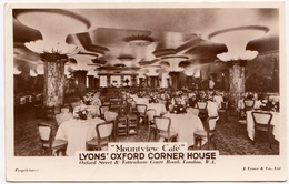 Mountview Cafe, Lyons' Oxford Corner House, London, Unused Real Photo Postcard [24017] - London