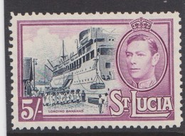 ST LUCIA 1938 5s SG 137 MOUNTED MINT Cat £24 - Ste Lucie (...-1978)