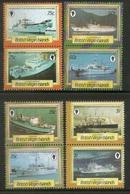 British Virgin Islands 1986 Ships Transport Sc 547-54 MNH # 609 - Ships
