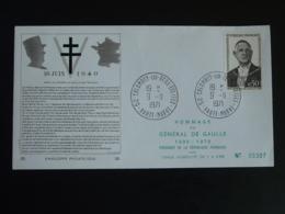 FDC Edition Berck General De Gaulle Colombey 52 Haute Marne 1971 - De Gaulle (Général)